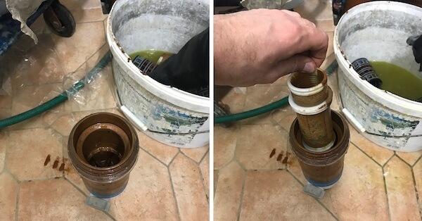 Пример сервисного обслуживание системы очистки воды